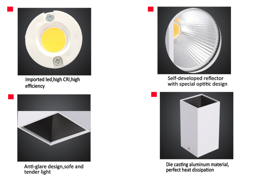 SMDL115-20 20W Surface mounted Downlights