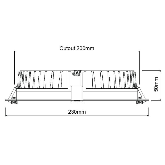 8inch downlight DL48200 20-35W
