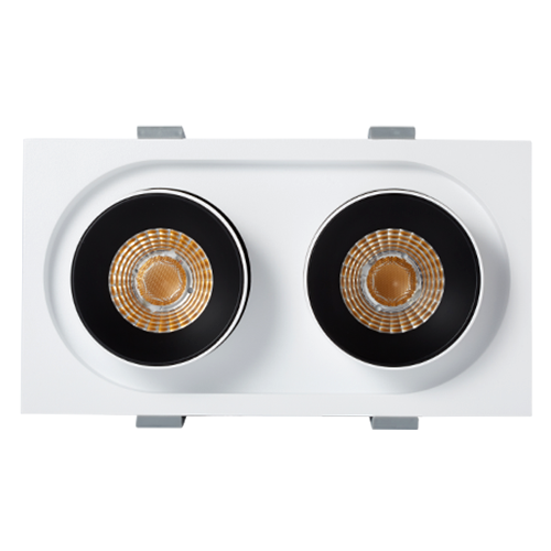 DL114-20S*2 Led ceiling light embedded adjustable angle commercial lighting down hole shot