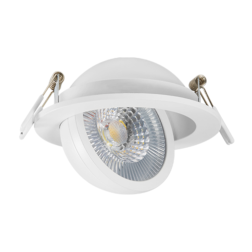 DL127COB-7 fixed fireproof 7W LED downlight IP65 three color dimmable